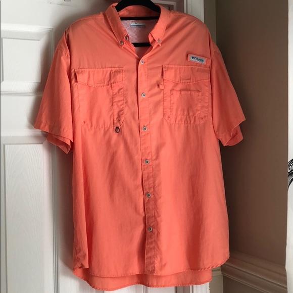 fce183ed460 Columbia Shirts   Mens Pfg Distant Water Short Sleeve Shirt   Poshmark
